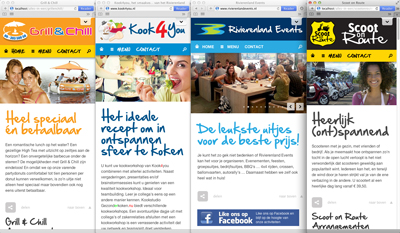 4 alles in 1 websites voor Rivierenland Events